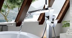 Floor bathtub faucet installation method